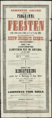 PROGRAMMA der FEESTEN ter gelegenheid van de NIEUW INGERIGTE KERMIS Aalter