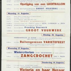 Feestprogram Kermis 1952 Stad Eeklo