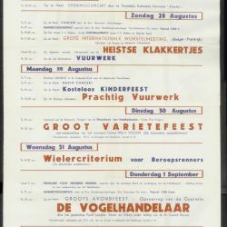 Feestprogram Kermis 1951 Stad Eeklo