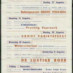 Feestprogram Kermis 1947 Stad Eeklo