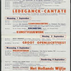 Feestprogram Kermis 1948 Stad Eeklo
