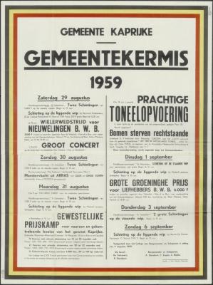 Gemeentekermis 1959 Kaprijke