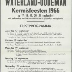 Kermisprogramma 1967 Wachtebeke