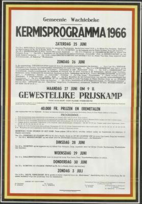 Kermisprogramma 1966 Wachtebeke
