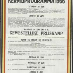 Kermisprogramma 1963 Wachtebeke
