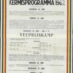 Kermisprogramma 1961 Wachtebeke